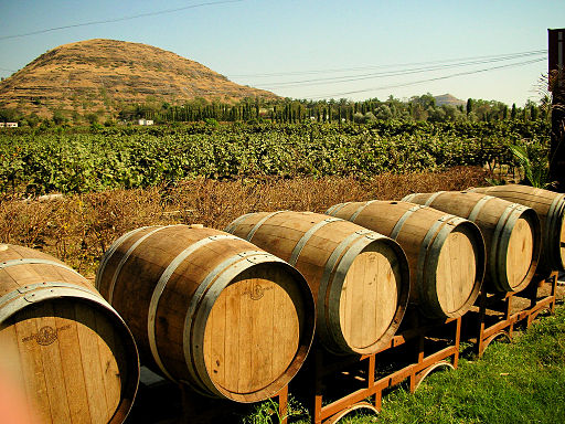 https://commons.wikimedia.org/wiki/File:Barrels_outside_Chateau_Indage_Vineyards,_Narayangaon_-_Pune,_Mah..jpg