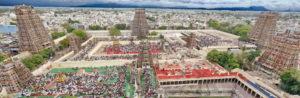 Aerial View of Madurai Temple
